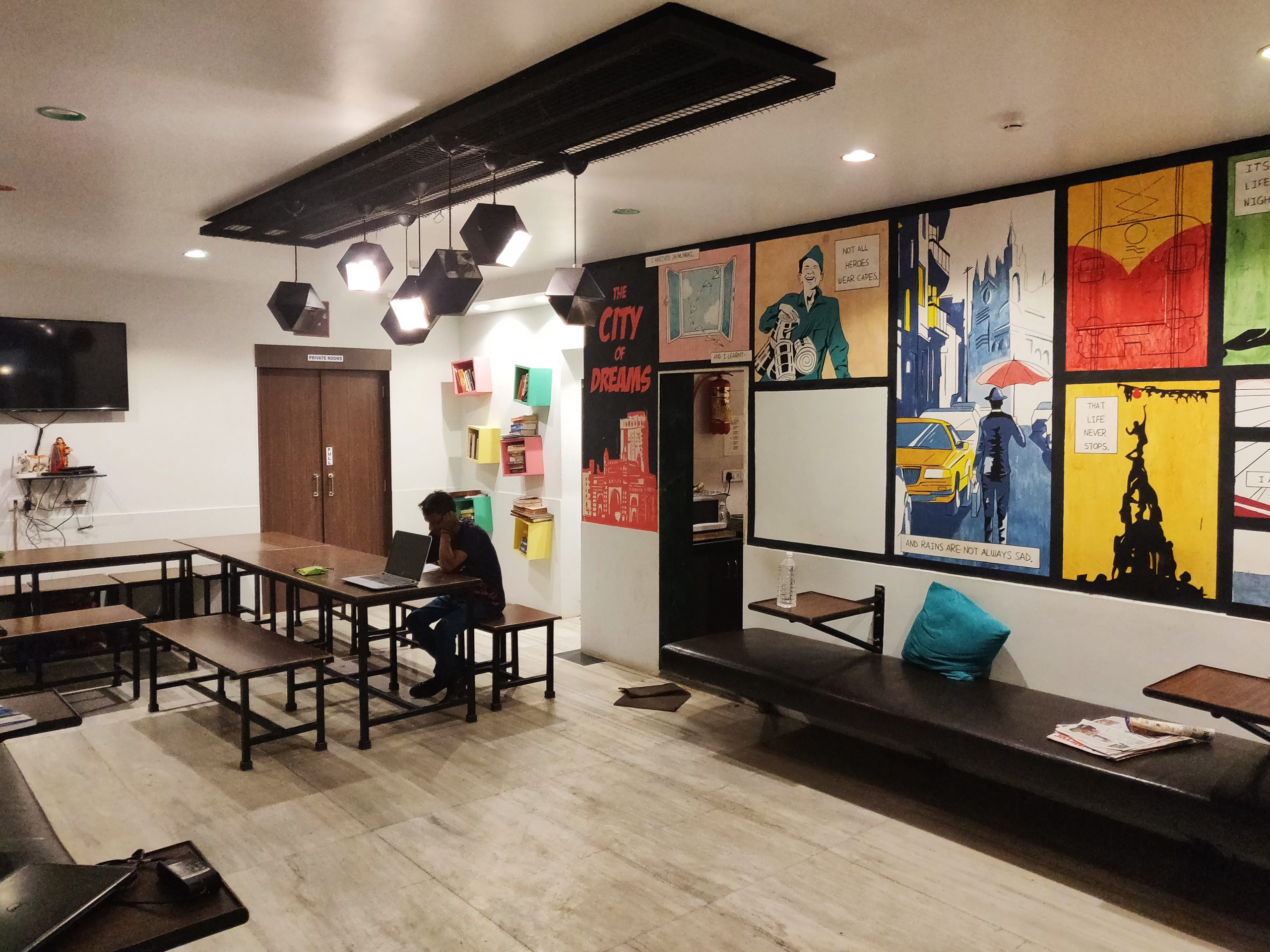 Common Area at Zostel Mumbai